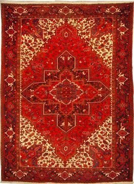 """Persian Rug Heriz Hand Knotted 11' 0"""" X 7' 11"""""""
