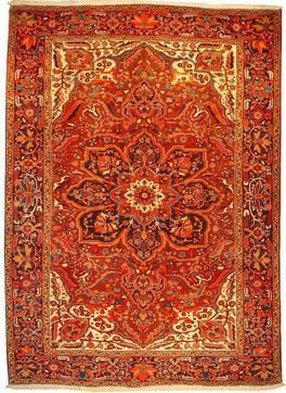"""Persian Rug Heriz Hand Knotted 11'8"""" X 8'4"""""""