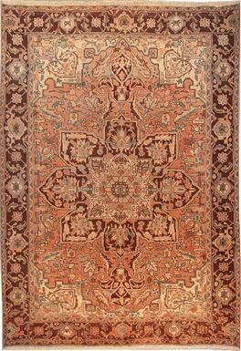 """Persian Rug Heriz Hand Knotted 9'7"""" X 6'5"""""""