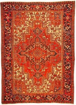 """Persian Rug Heriz Hand Knotted 9'8"""" X 7'1"""""""