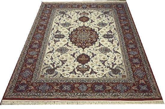 """Persian Rug Isfahan Hand Knotted 10'0"""" X 6'8"""""""