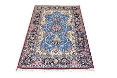 """Persian Rug Isfahan Hand Knotted 7'10"""" X 4'11"""""""