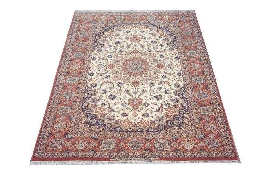 """Persian Rug Isfahan Hand Knotted 7'8"""" X 5'1"""""""
