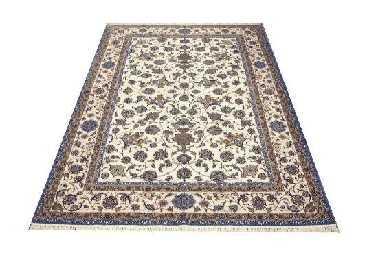 """Persian Rug Isfahan Hand Knotted 9'11"""" X 6'3"""""""