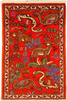 """Persian Rug Museel Hand Knotted 3'5"""" X 2'3"""""""
