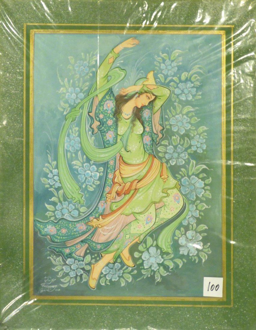Persian Miniature on Plastic Painting