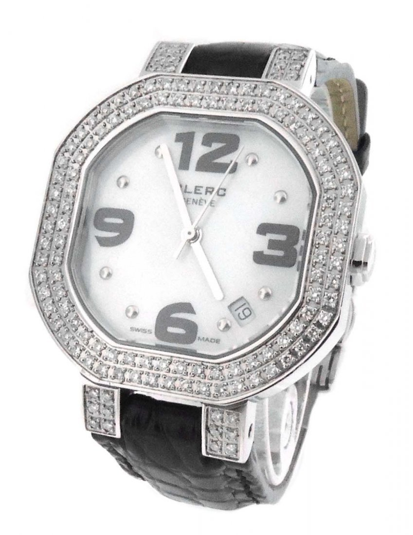CLERC C-ONE STAINLESS STEEL QUARTZ MOTHER OF PEARL