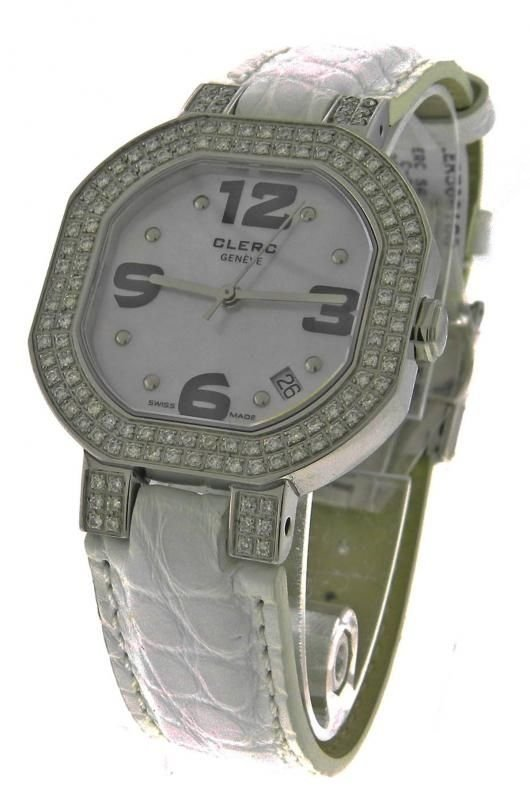 CLERC C-ONE C1DS-S16 STEEL QUARTZ MOTHER OF PEARL