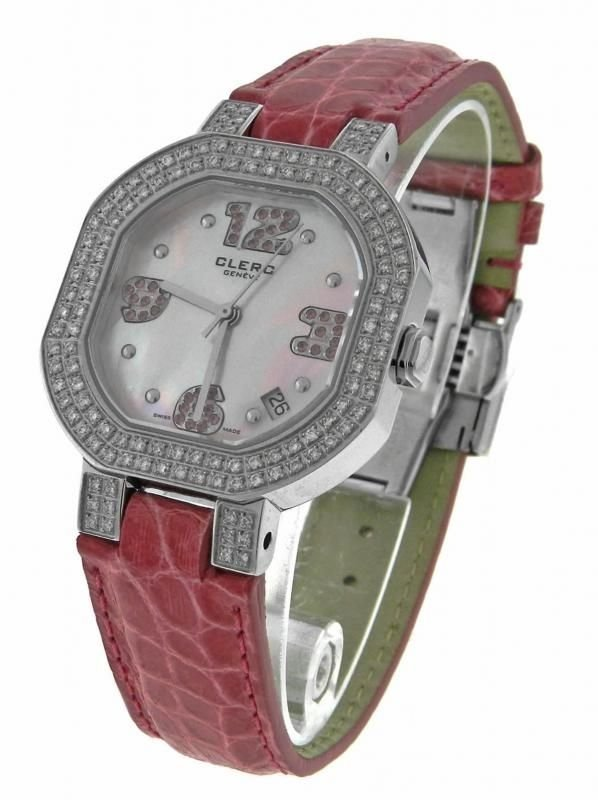 CLERC C-ONE PINK SAPPHIRES MOP WATCH