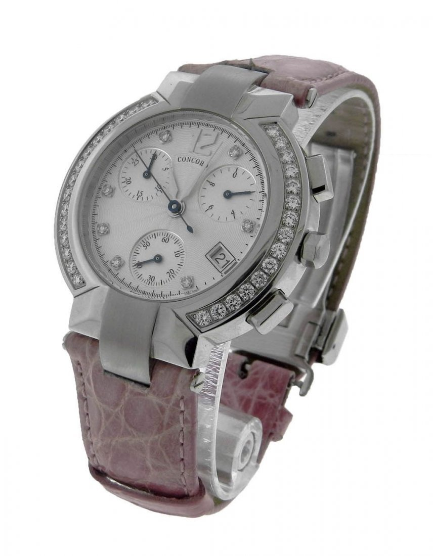 WOMEN'S CONCORD LA SCALA ROUND STEEL DIAMOND QUARTZ