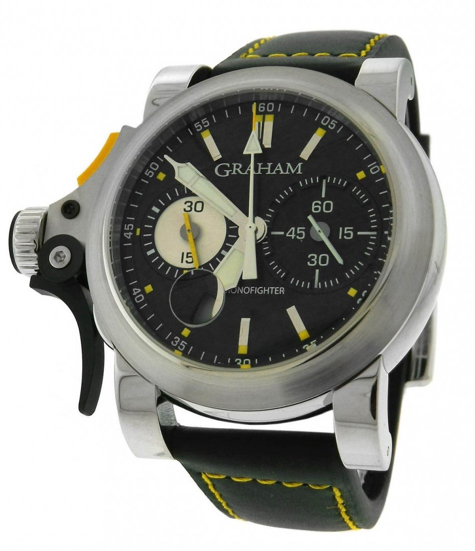 MEN'S GRAHAM CHRONOFIGHTER RAC TRIGGER STAINLESS STEEL