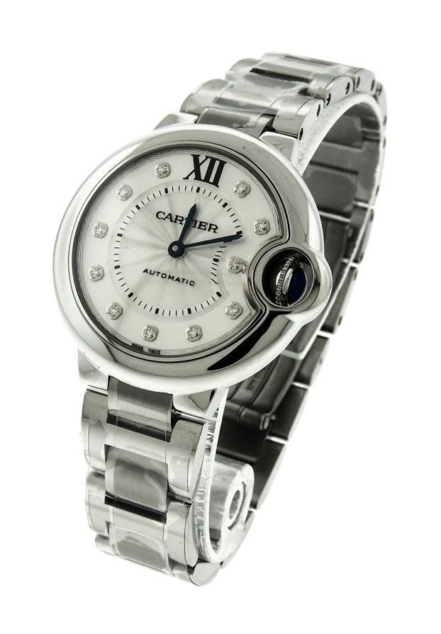 LADIES CARTIER BALLON BLEU WE902074 STEEL DIAMOND AUTO