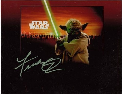 FRANK OZ YODA AUTHENTIC SIGNED 8 X 10 PHOTOGRAPH