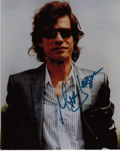 MICK JAGGER AUTHENTIC SIGNED 8 X 10 PHOTOGRAPH #2