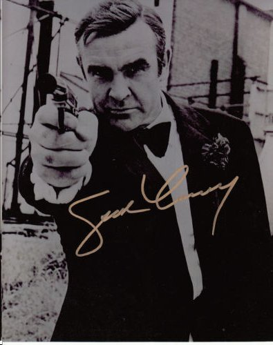 SEAN CONNERY AUTHENTIC SIGNED 8 X 10 PHOTOGRAPH
