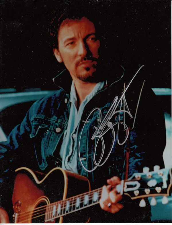BRUCE SPRINGSTEEN AUTHENTIC SIGNED 8 X 10 PHOTOGRAPH #3