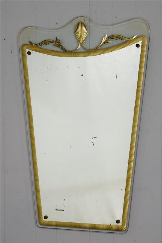 Italian 50's Etched Mirror