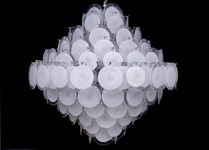 Large Vistosi White Disk