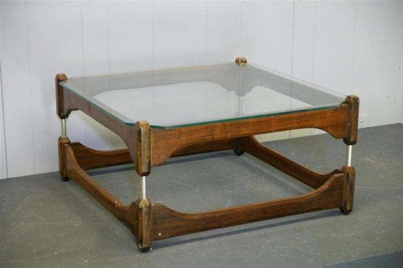 Italian Glass-Top Coffee Table