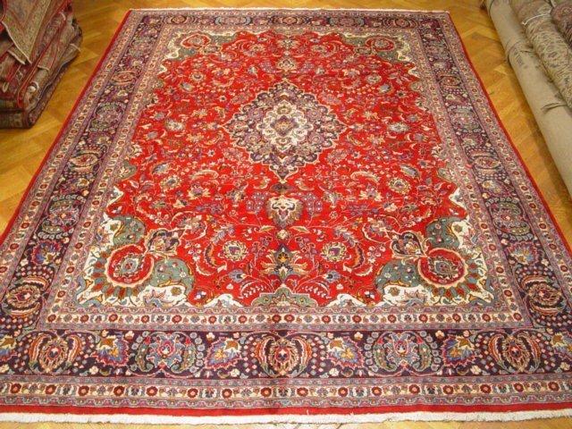 Colorful 13'X10' Persian Khorasan Rug Circa Condition