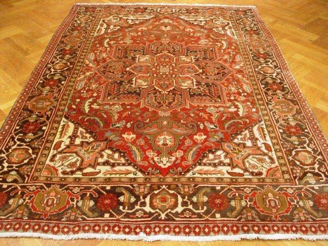 Bakhshayesh Design 9'X7' Persian Heriz Rug  Excellent