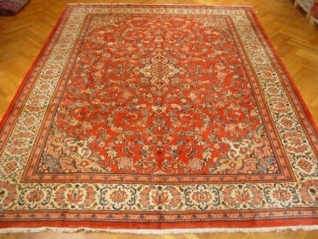 Semi Antique Ivory Border 14'X11'  Persian Carpet