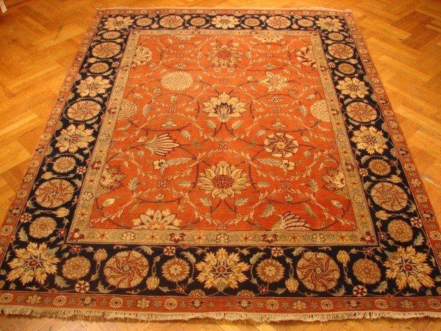 Antique Replica 10'X8 Cinnamon Color Fine Agra Carpet