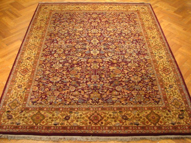 Amazing Quality 10'X8' Great Looking Gold Border Jaipur