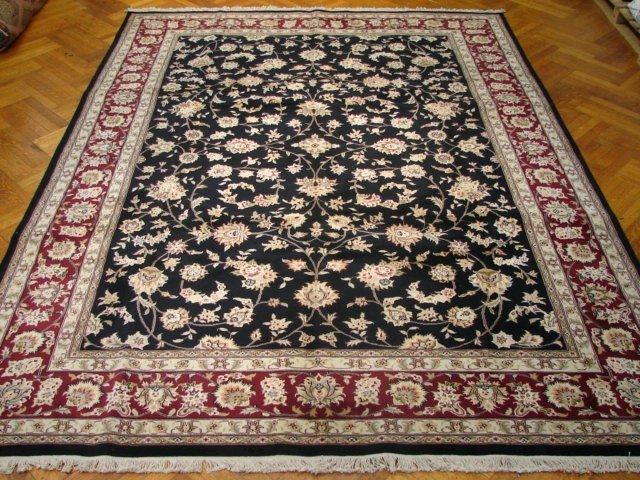 Hi-End Silk & Wool 12'X8' Black Color Sino Tabriz