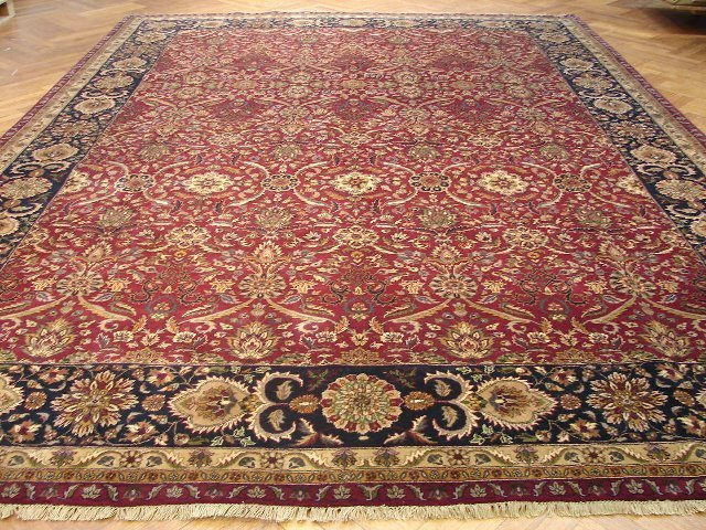 Amazing Fine Quality 14'X11' Fine Wool Durable Jaipur