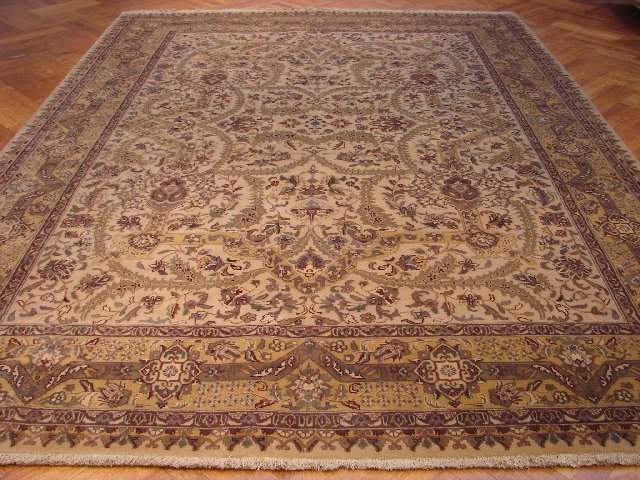 Amazing Fine Quality 12'X9' Fine Wool Durable Jaipur