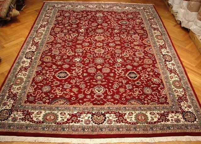 15'X11'  Authentic Super Fine Persian Tabriz Carpet