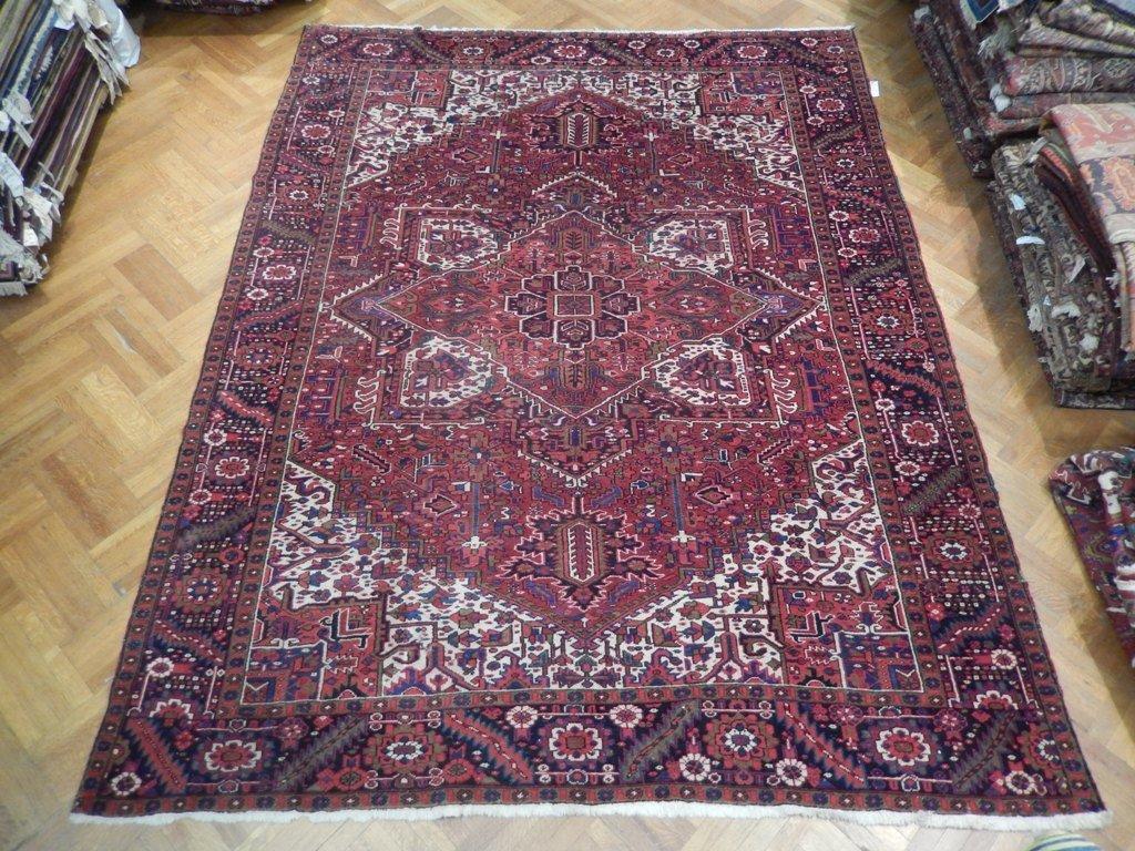 Decorative 13'X10' Persian Heriz Bakhshayesh Carpet