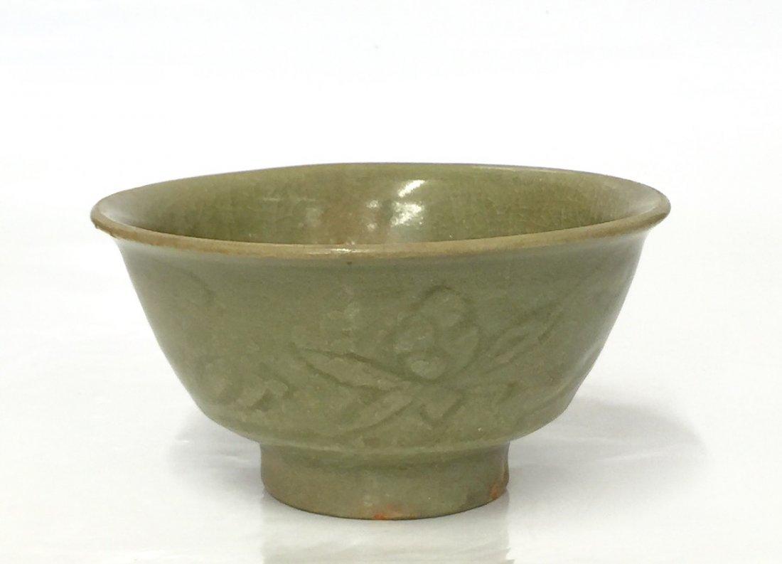 Green glaze bowl. Song thru Ming Period.