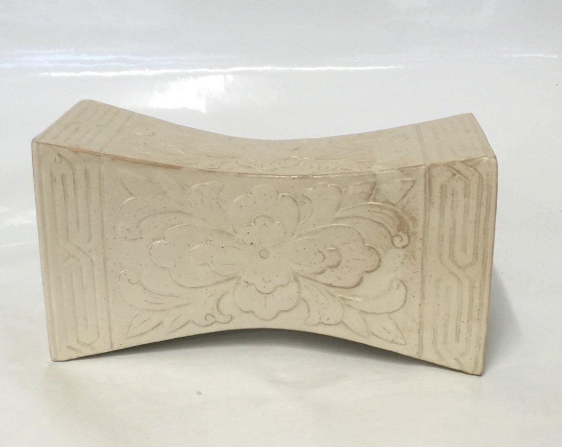 White glaze pillow. Song thru Ming Period.