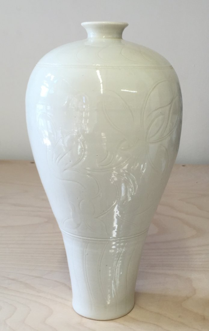 Dingyao vase. Guan Mark.  Probably Song.