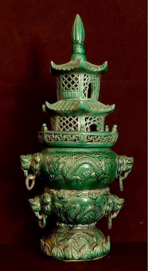 QING PERIOD 19TH CENTURY / INCENCE BURNER WITH RELIEF