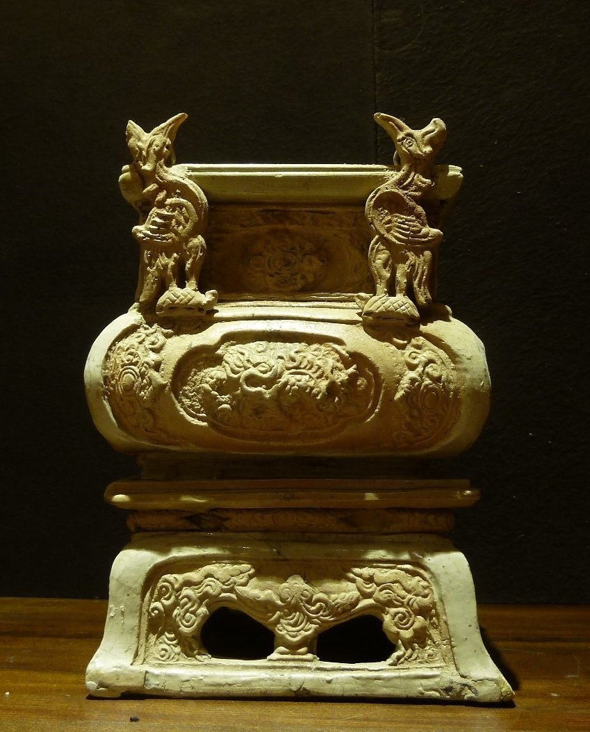 Annamese 18th Century / Incence Burner with Relief