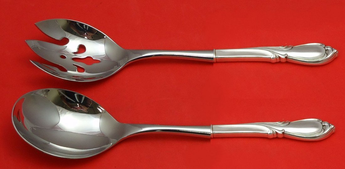 International Rhapsody sterling 2pc salad set