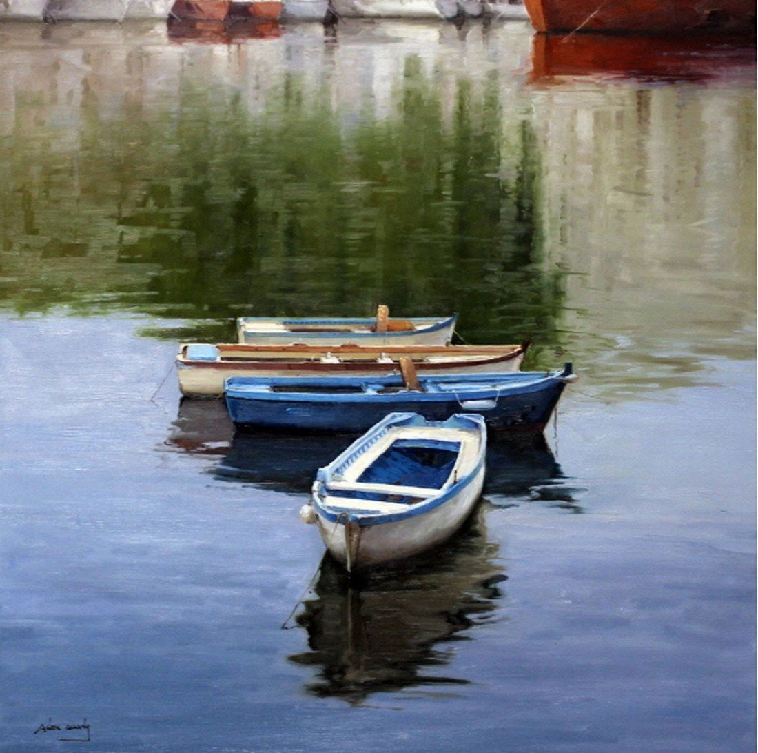 The Wharf, Oil on canvas