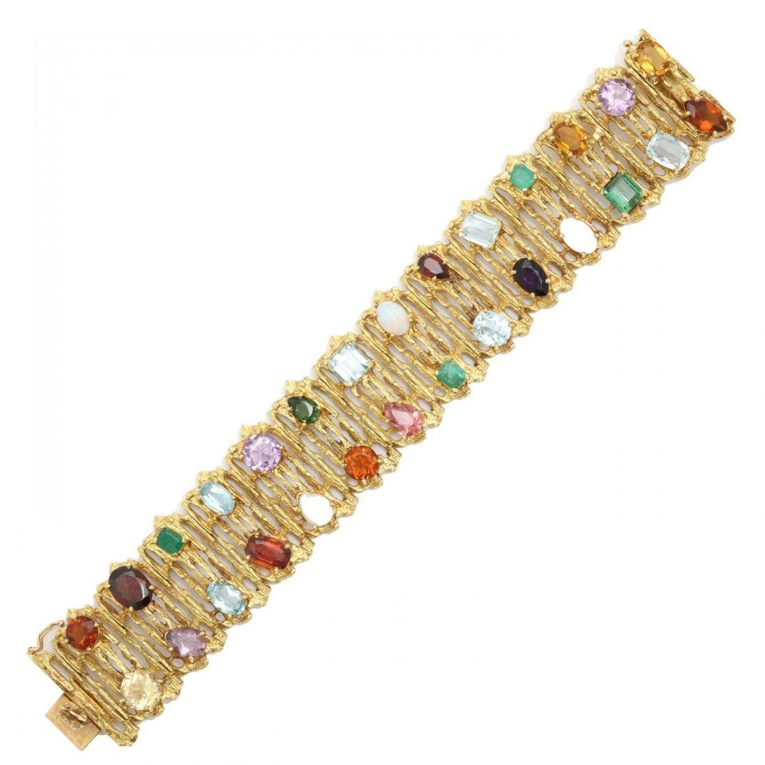 1960s H.Stern Multi-Colored Gemstone Gold Flexible