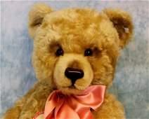 """29"""" Steiff Mohair straw stuffed Jackie Teddy Bear w."""