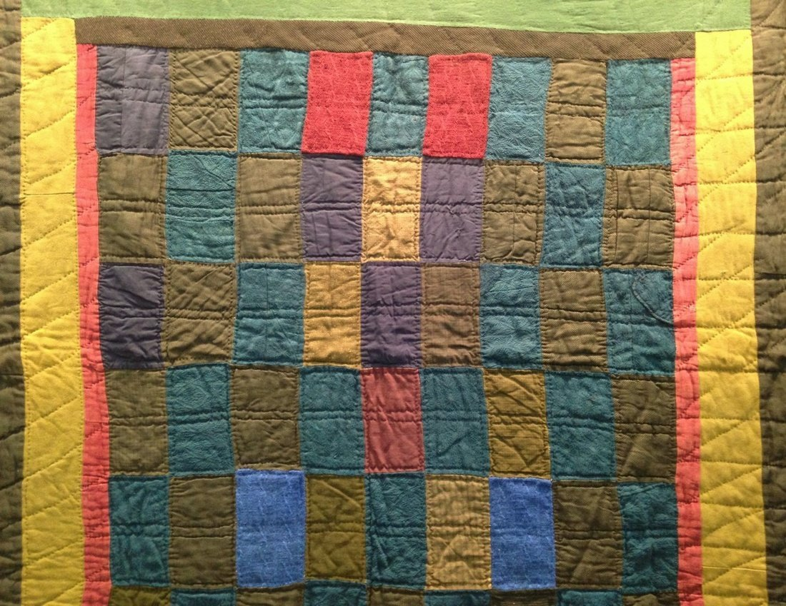 Early African American-made Quilt in Rich Hues