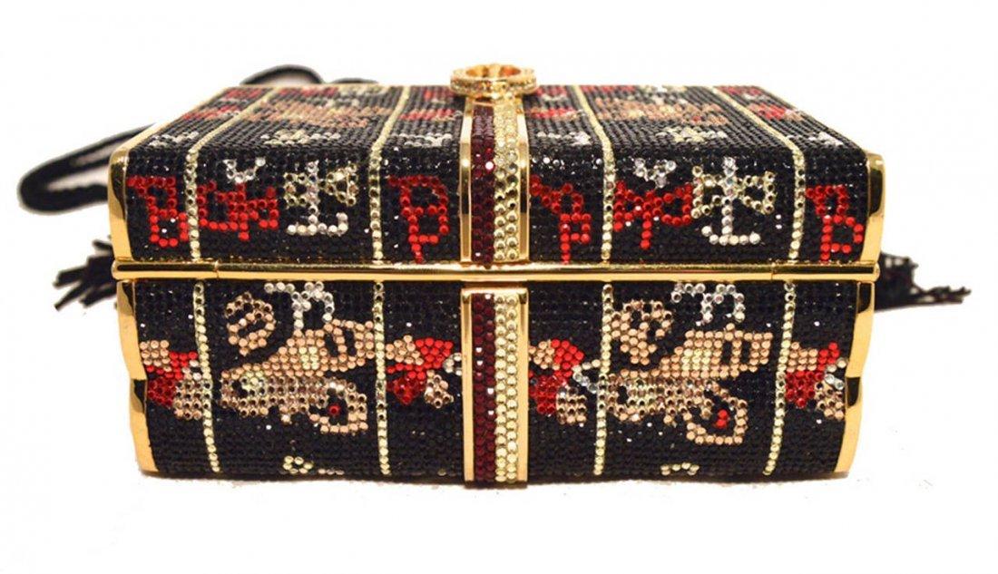 Judith Leiber Swarovski Crystal Books Box Minaudiere - 4