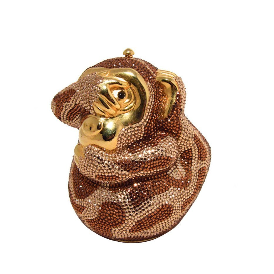 Judith Leiber Hiding Monkey Swarovksi Crystal