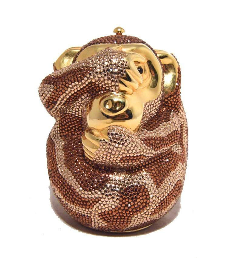 Judith Leiber Hiding Monkey Swarovksi Crystal - 4