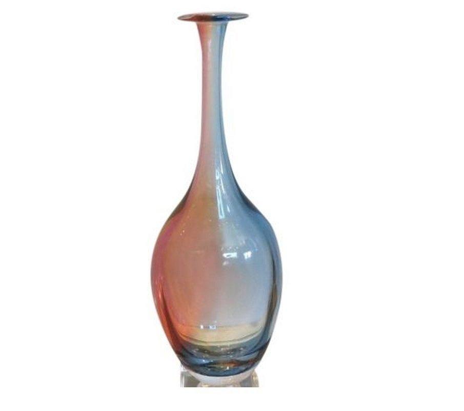 Signed Kosta Scandinavian Glass Rainbow by Kjell Engman