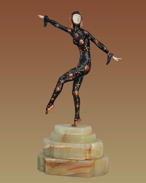 Chiparus Bronze Sculpture Les Girls Single Dancer