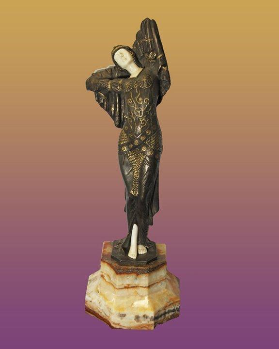Chiparus Bronze Sculpture Odelisk