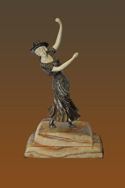 Demetre Chiparus Bronze Sculpture